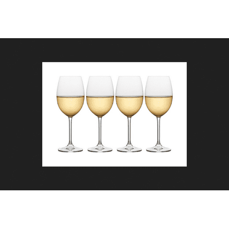 mikasa julie 4-pc. white wine glass set ()