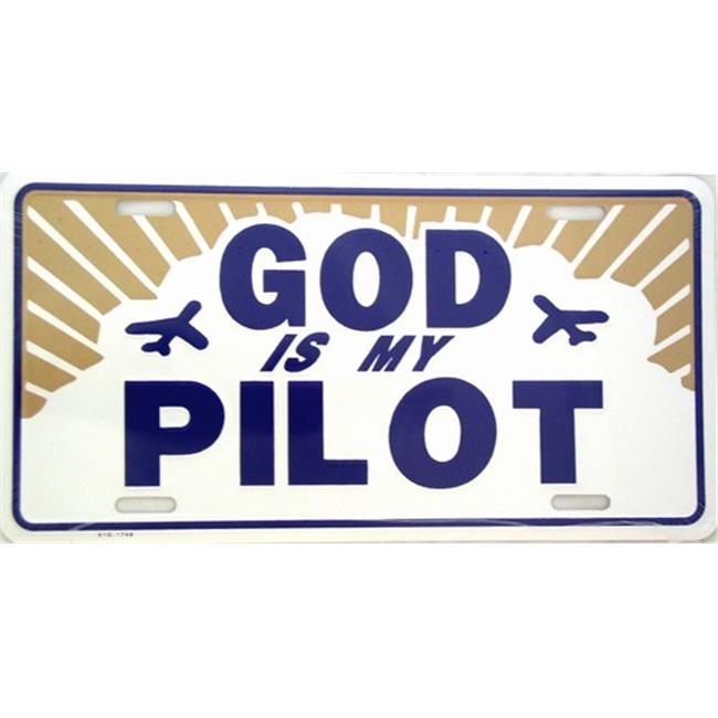 LP - 245 God is My Pilot License Plate - 1748