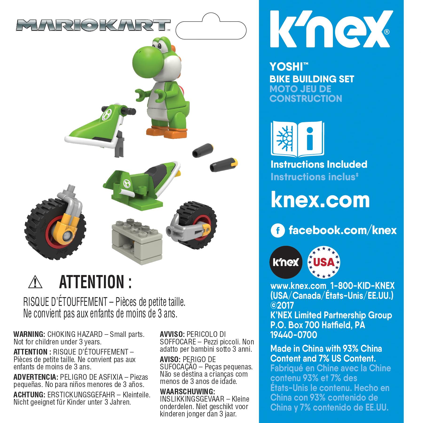 Knex Mario Kart Yoshi Bike Building Set Walmart