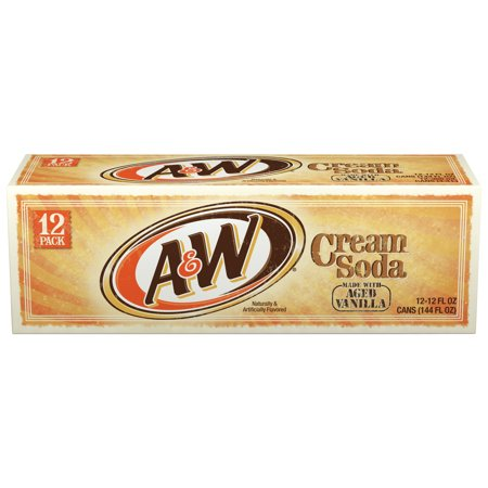 (3 Pack) A&W Cream Soda, 12 fl oz, 12 pack