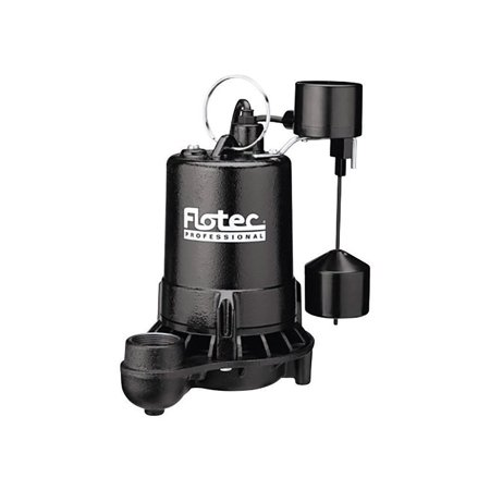 Flotec 3/4 hp 5280 gph Cast Iron Submersible Sump Pump Cast Iron Pedestal Sump Pump