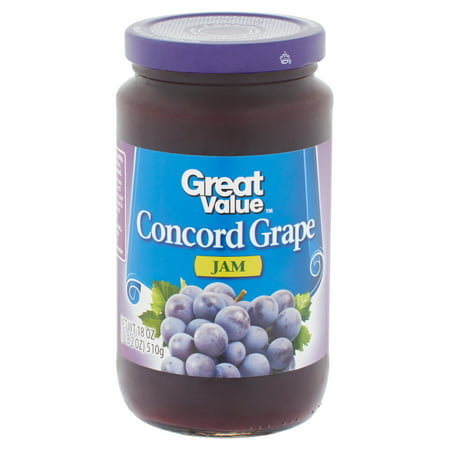 Great Value Jam, Concord Grape, 18 oz