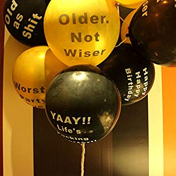 12 Extreme Insults Edition Brutal Balloons Funny Rude Birthday Decorations