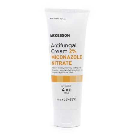 McKesson Antifungal Cream 2% Miconazole Nitrate Cream 4oz Tube (Miconazole Nitrate 2% Antifungal)