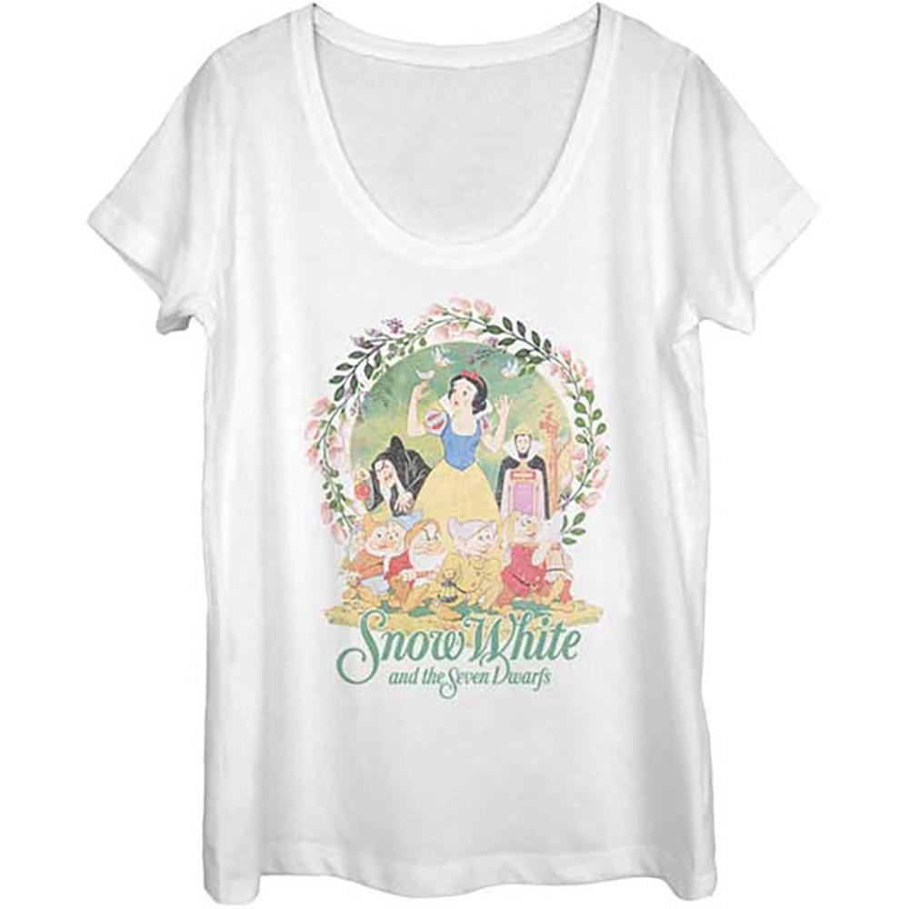 Snow White & The Seven Dwarfs Women's Classic Disney T-Shirt (S)