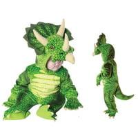 Green Triceratops Toddler Halloween Costume