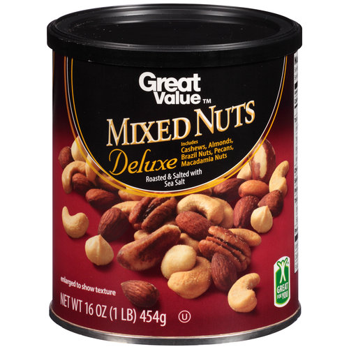 Great Value Deluxe Mixed Nuts, 16 oz