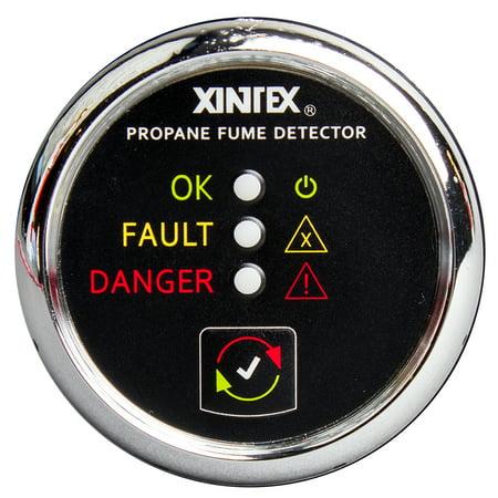 Xintex / Fireboy 18511403 Xintex Propane Fume Detector W/plastic Sensor - No Solenoid Valve - Chrome Bezel Displa