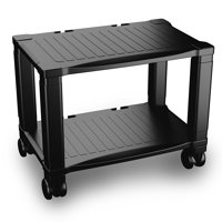 Printer Stand-2-Tier Under Desk Table for Fax, Scanner, Printer, Office Supplies-Compact and Mobile with Wheels for Portable Storage by Home-Complete