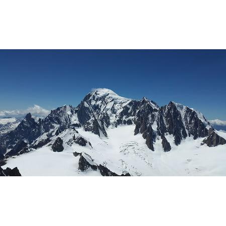 LAMINATED POSTER Glacier High Mountains Mont Blanc Mont Maudit Poster Print 24 x 36