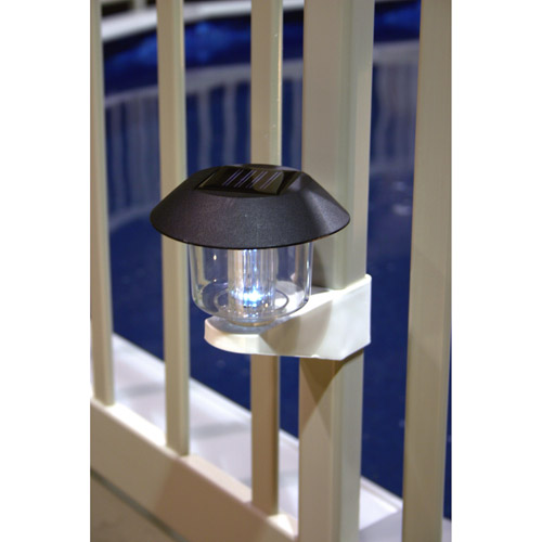 Vinyl Works Solar Light Kit for Above-Ground Pool Fence, 4pk