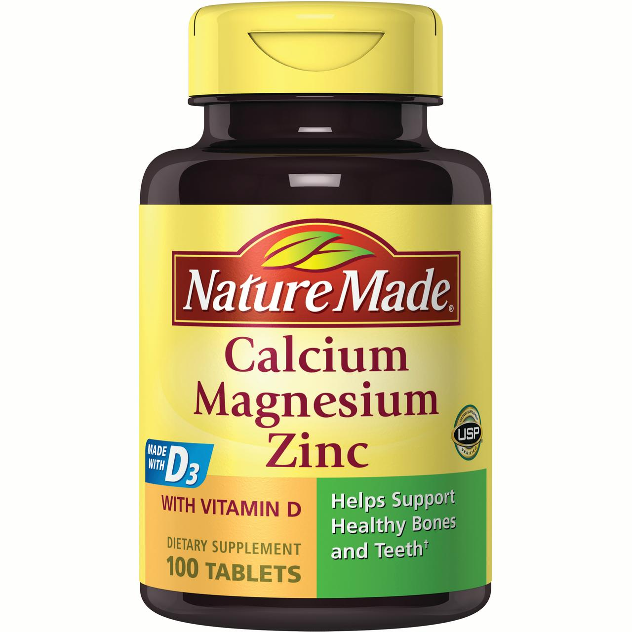 (2 pack) Nature Made® Calcium, Magnesium and Zinc Tablets