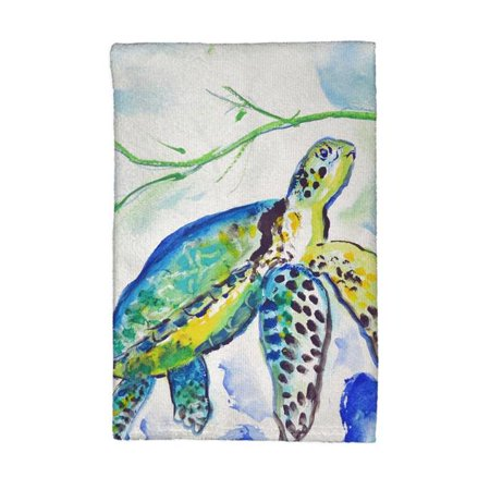 Betsy Drake KT833 Yellow Sea Turtle Kitchen Towel - image 1 of 1