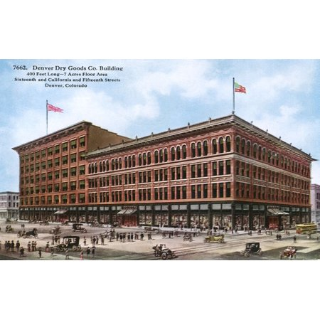 Denver Dry Goods Co Building   Denver Colorado Usa Poster Print By Mary Evans  Grenville Collins Postcard Collection
