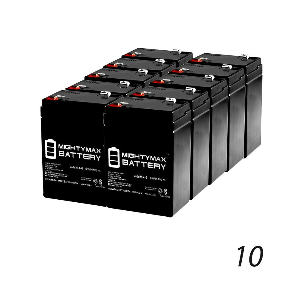 ML4-6 - 6V 4.5AH Garden Leaf Blower SLA AGM Battery - 10 Pack