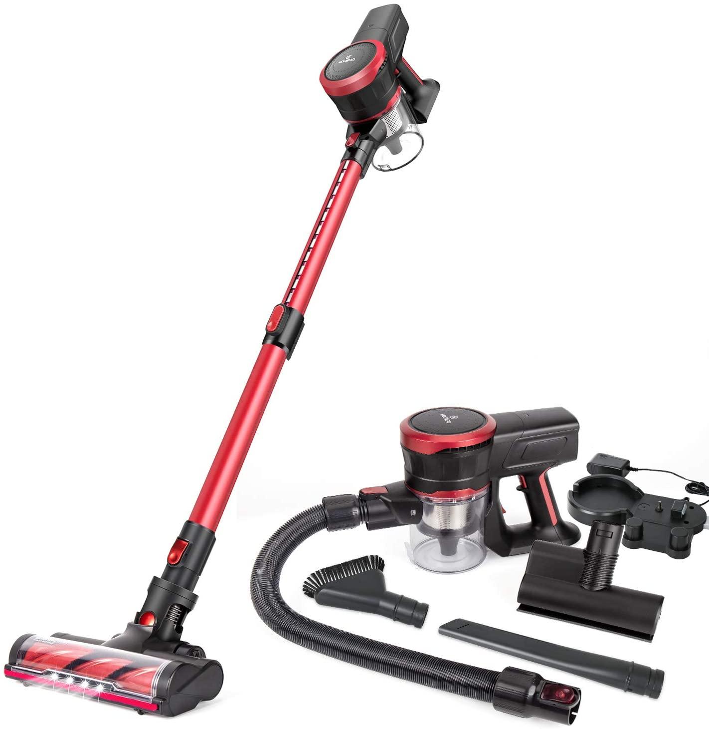 MOOSOO Cordless Vacuum Cleaner 2-in-1 Stick Vacuum
