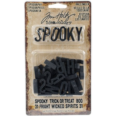 Idea-Ology Typography Plastic Alphabet 44/Pkg-Black .75