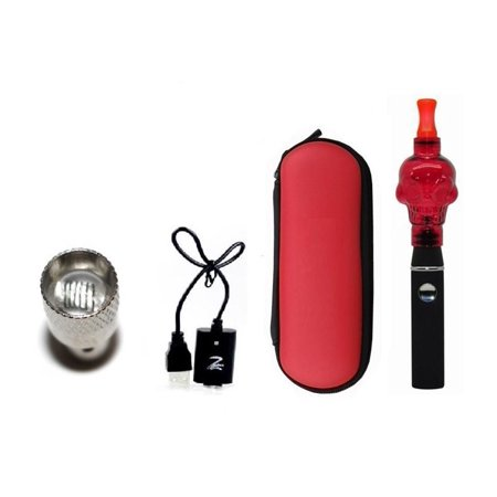 Z-Skull Wax Vape Pen E-Cigarette Electronic Cigarette Vaporizer eGo CE4 Atomizer EGO-T 650 mah Battery Vaporizer Kit (Red)