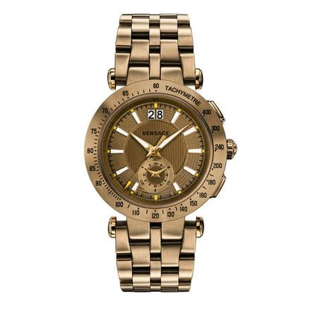 Versace VAH060016 Men's V-Race Sport Men'S Brown Dial Watch (Watches Men Versace)