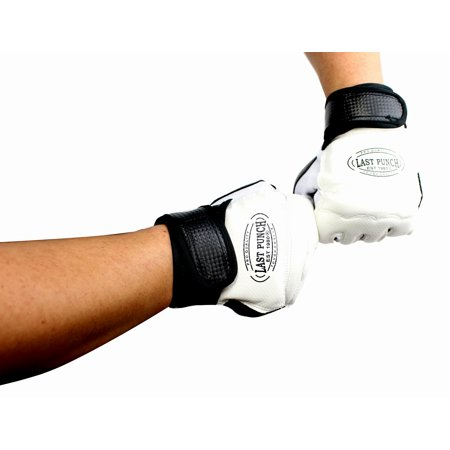 Pair of Last Punch Pro Style Artificial Leather Fingerless Boxing Fighting MMA Training Gloves
