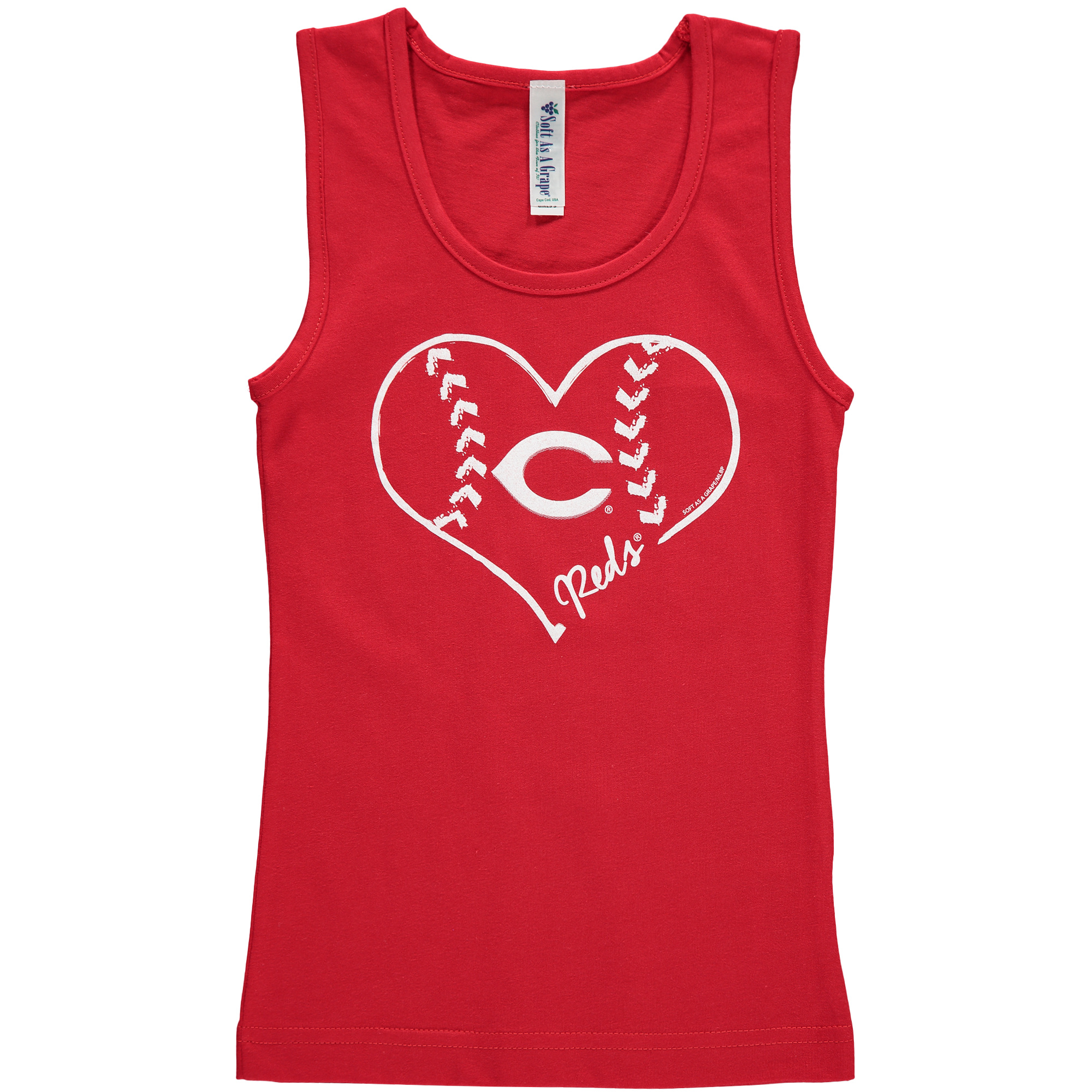 Cincinnati Reds Soft as a Grape Girls Youth Cotton Tank Top - Red