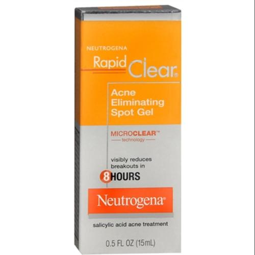 Neutrogena Rapid Clear Acne Eliminating Spot Gel 0.50 oz (Pack of 2)