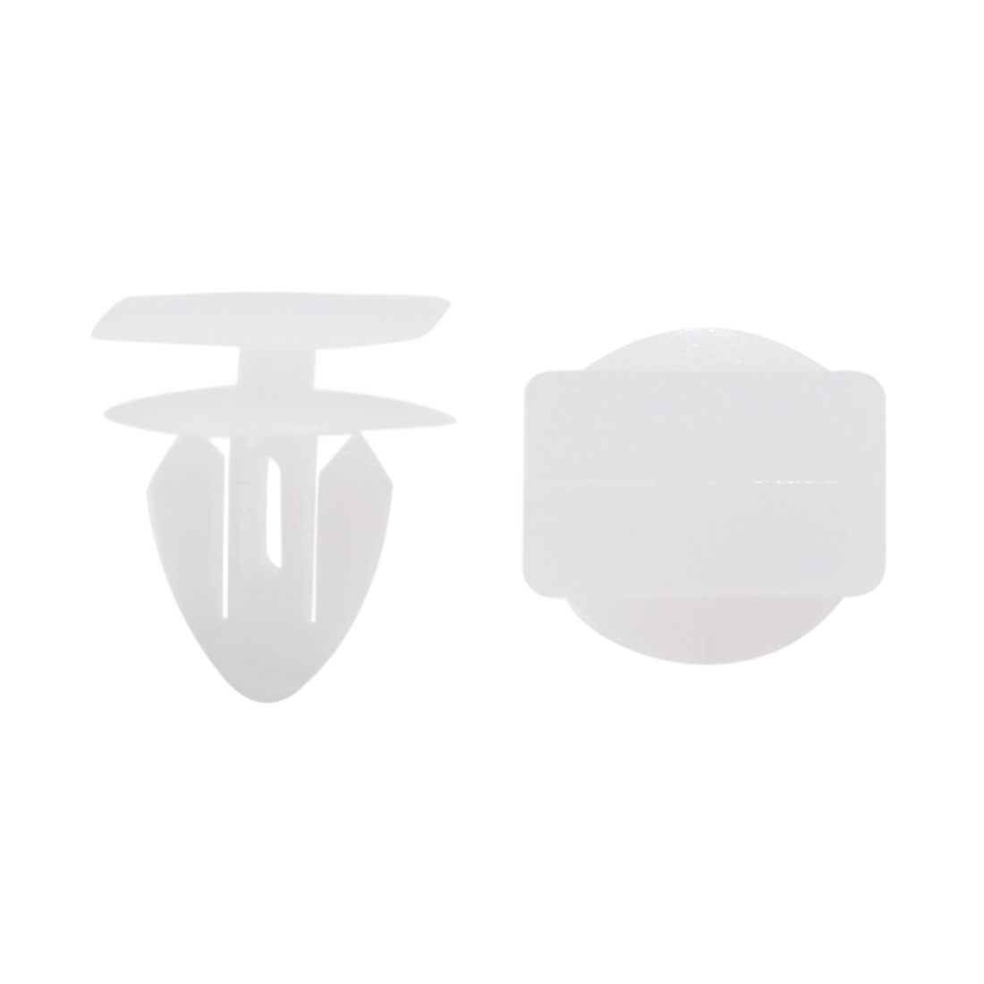 100pcs Plastic Rivets Fastener Car Auto Fender Fixing Clips White Fits 11mm Hole
