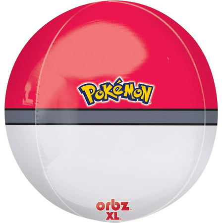 "Cp Orbz Pokemon Ball 15"" x 16"" Foil Balloon Contains/Directions: Balloons Sold Flat"