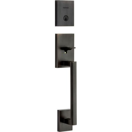 Kwikset 818SCELIP-S San Clemente Single Cylinder Keyed Entry Handleset with SmartKey, Exterior Only