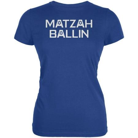 Jewish Matzah Ballin' Juniors Soft T Shirt (Mvp Ballin)