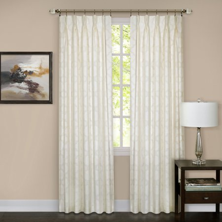 2-Pack 98% Blackout Energy Efficient Pinch Pleat Window Privacy Curtain Rod Pocket or Tie-Back -