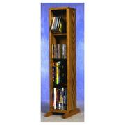 7.25 in. 4 Row Dowel DVD Tower (Honey Oak)