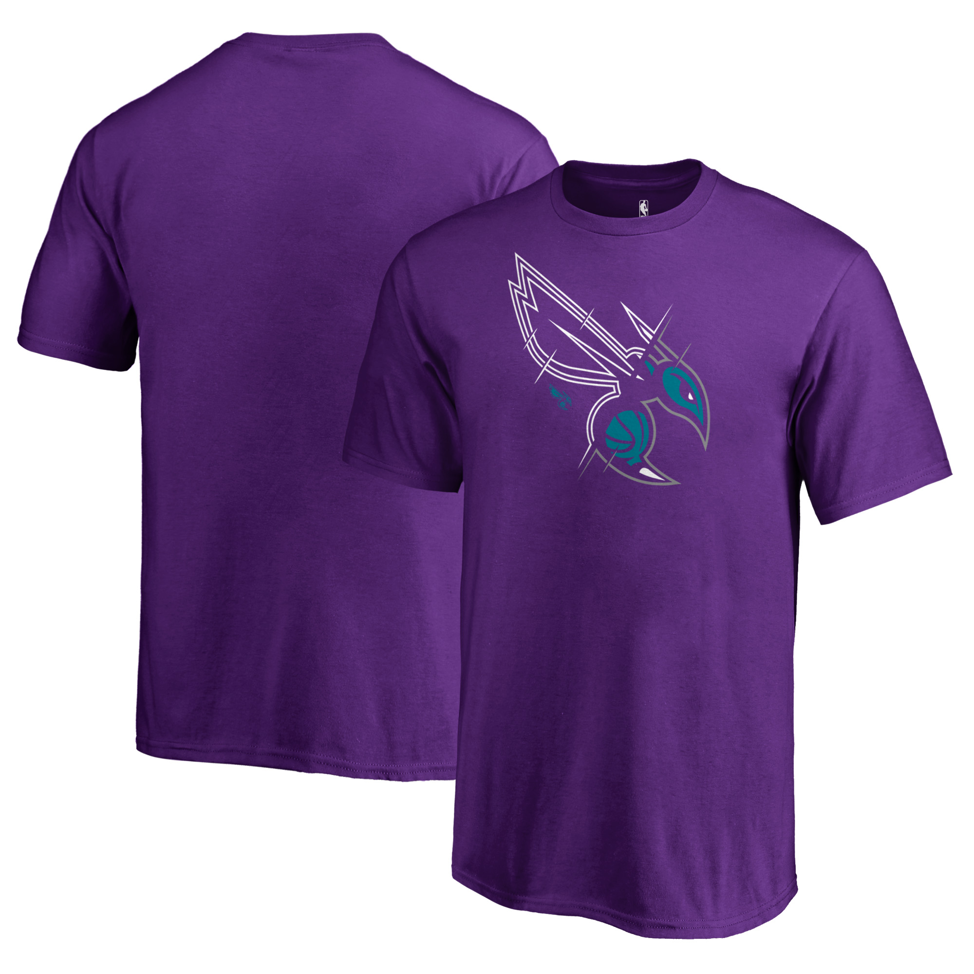 Charlotte Hornets Fanatics Branded Youth X-Ray T-Shirt - Purple