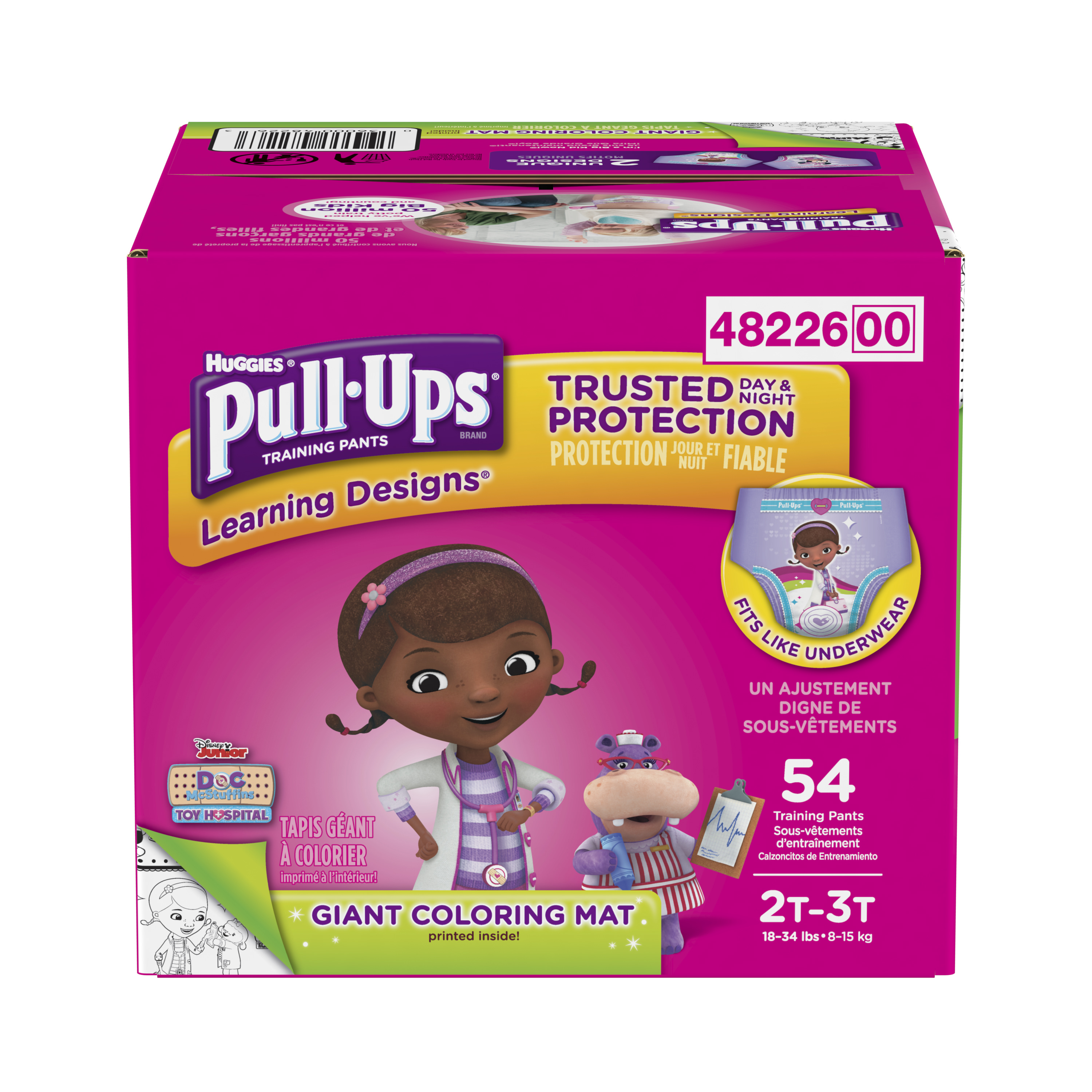 Pull-Ups Learning Designs Potty Training Pants for Girls, 2T-3T (18-34 lb.), 54 Ct. (Packaging May Vary)