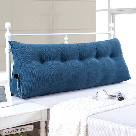 Sofa Bed Large Filled Triangular Wedge Cushion Backrest Positioning Support Pillow Reading Office Lumbar