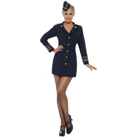 Flight Attendant Adult Costume - Large - Flight Attendant Costume For Kids