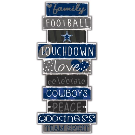 Dallas Cowboys 5'' x 24'' Celebrations Stack Sign - No Size Dallas Cowboys Cabinet Style Wood