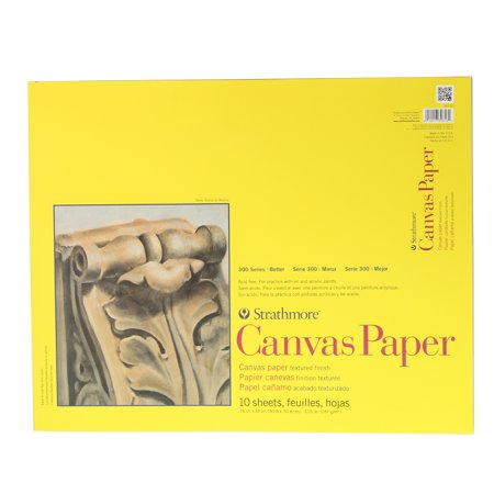 Strathmore Canvas Paper Pad, 300 Series, 16in x 20in (Acrylic Painting Paper)