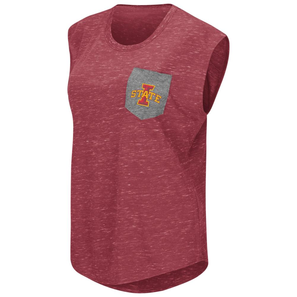 Iowa State Cyclones Ladies Pocket Tee Heathered Vintage T-Shirt