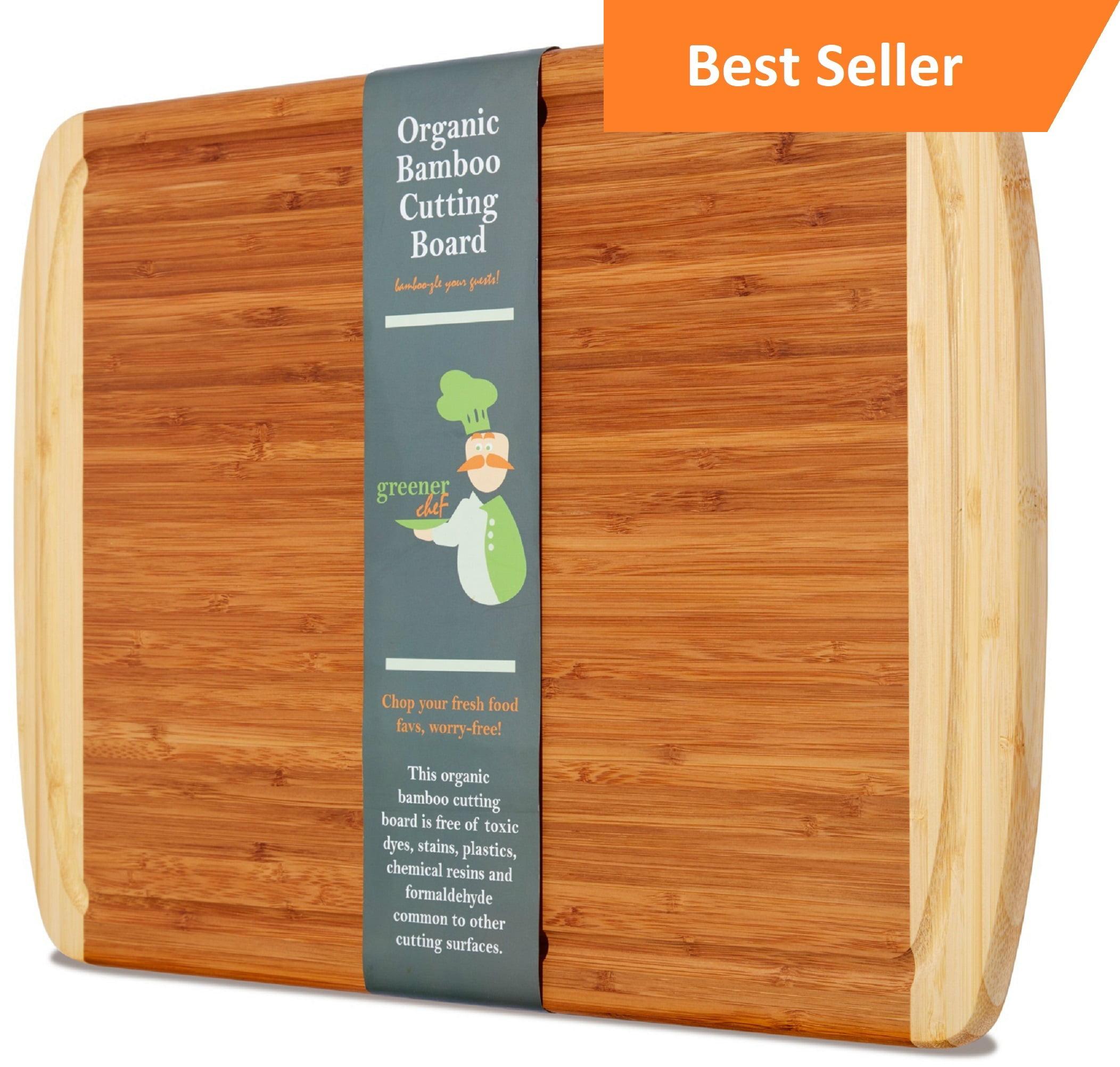 KING SIZE ORGANIC Bamboo Cutting Board w/ LIFETIME REPLACEMENT ...