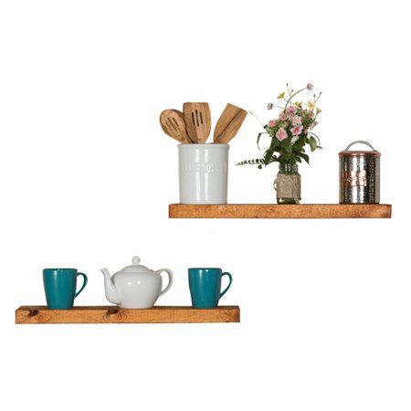 True Floating Shelves, Set of 2, 36-Inch Walnut