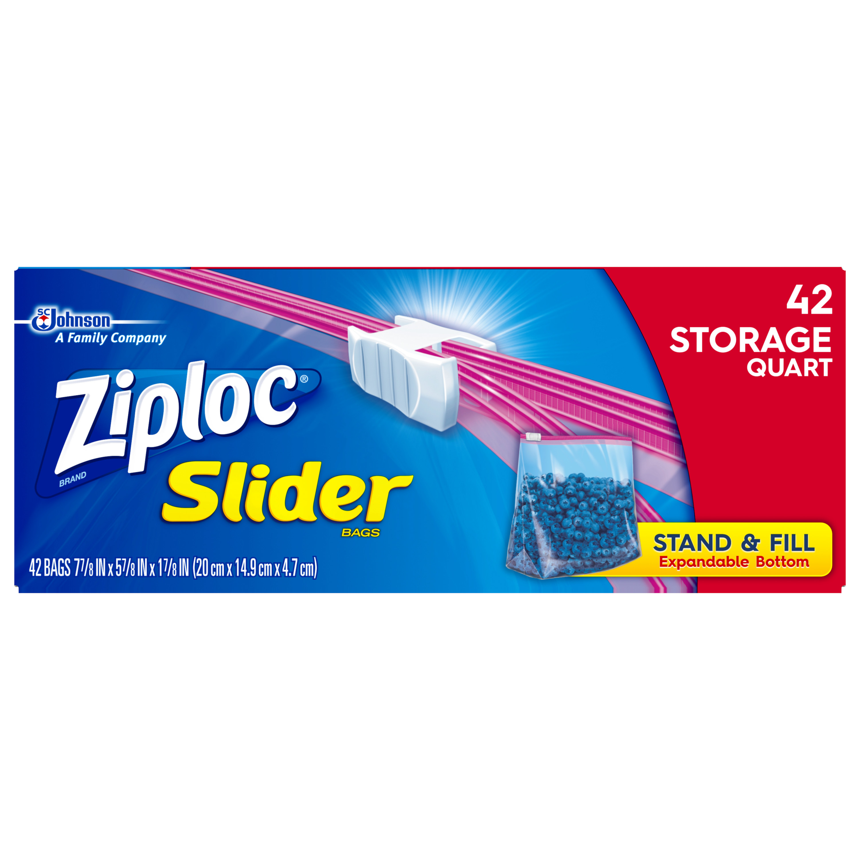 Ziploc Slider Storage Bags Quart 42 count