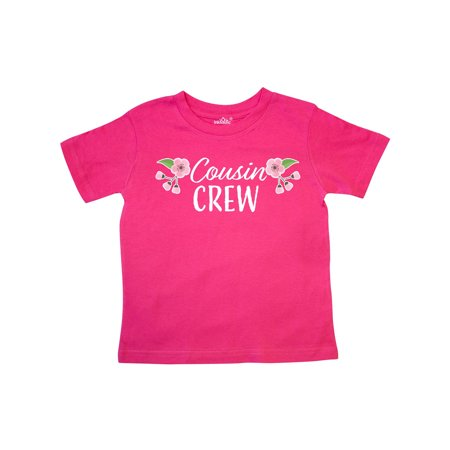 Cousin Crew with Cherry Blossom Flowers Toddler T-Shirt