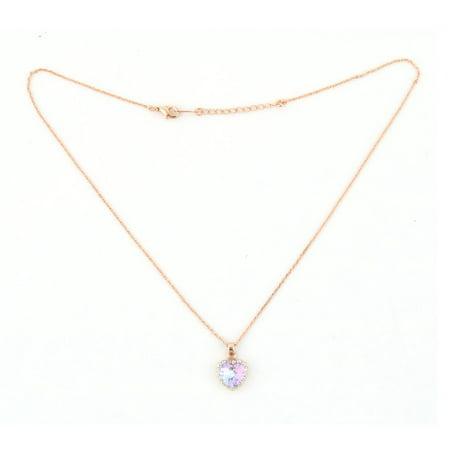 31bf35ceaeecc Lady Rhinestone Heart Design Pendant Jewelry Necklace Clothing Decor Gold  Tone | Walmart Canada