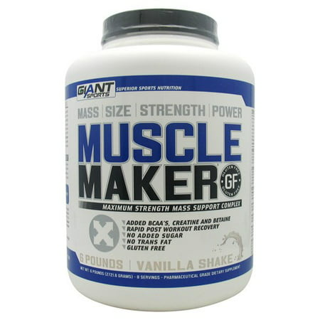 Giant Sports Products Muscle Maker Vanilla Shake   6 Lbs  2721 6 Grams