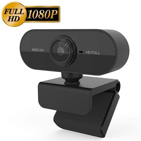 1080P Webcam with Microphone for Desktop, Web Cameras for Computers & Laptop, Streaming USB Webcam for Online Teaching and Gaming, PC Camera Compatible with Zoom/Skype/Facetime/Teams