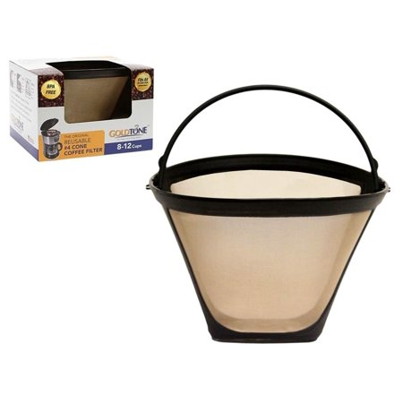 GoldTone Brand Reusable #4 Cone Filter replaces Black+Decker #4 Cone Coffee Filter and Permanent Black & Decker Coffee Filter for Black and Decker Machines and