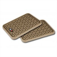 Floor Liner, Rear Pair, Tan, Most Applications