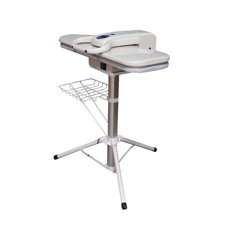 Speedy Press Ultra Extra Large Steam Press with stand - 100 Lbs of Pressing Pressure with Multiple Steam and Temperature settings, Includes Collapsible Sturdy Telescopic Stand and Clothes Rack ()
