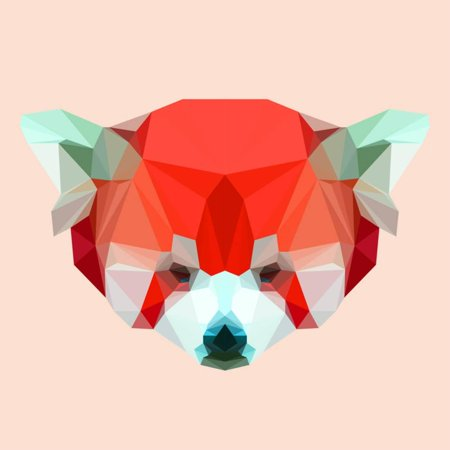 Abstract Geometric Polygonal Red Panda Animal Portrait Print Wall Art By vanillamilk](Geometric Portrait)